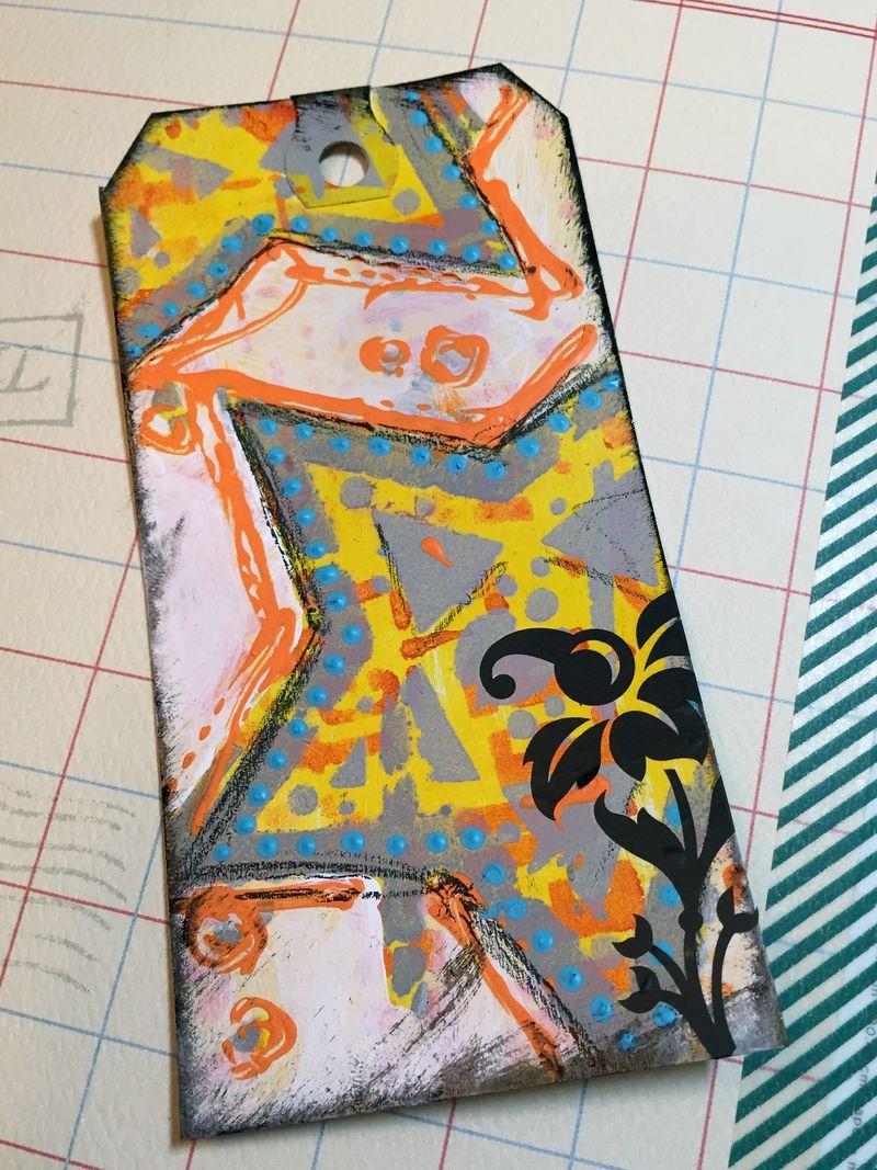 Tag with new Seth Apter Stencils - Gwen Lafleur