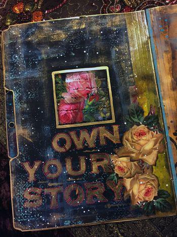 Nov2015 StencilClub - File Folder Art Journal 2a - Gwen Lafleur