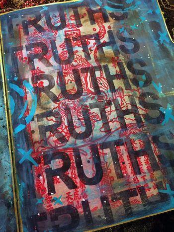 Nov2015 StencilClub - File Folder Art Journal 4a - Gwen Lafleur