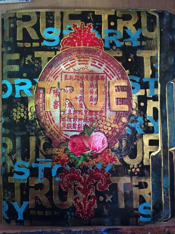Nov2015 StencilClub - File Folder Art Journal Cover - Gwen Lafleur