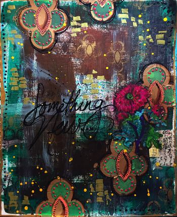 Something New Art Journal - Circle Cluster Stencils - Gwen Lafleur