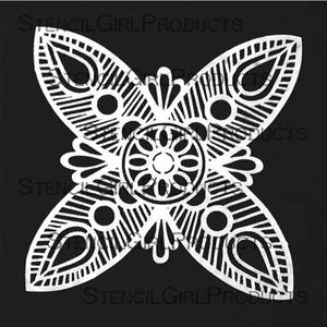 Ornamental Petals Mask Stencil by Gwen Lafleur
