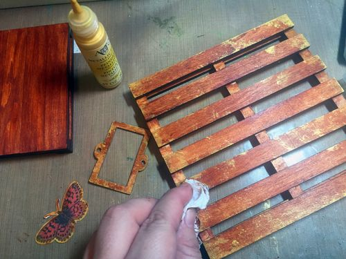 Mixed Media Art-C Pallet Project Step 2 by Gwen Lafleur