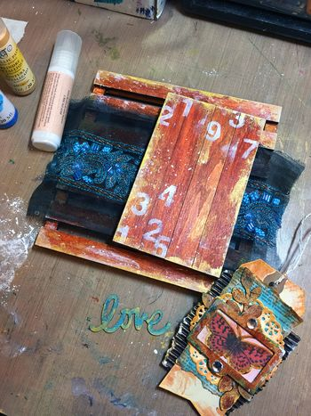 Mixed Media Art-C Pallet Project Step 4 by Gwen Lafleur