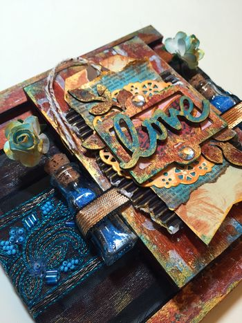 Mixed Media Art-C Pallet Project close-up 1 by Gwen Lafleur