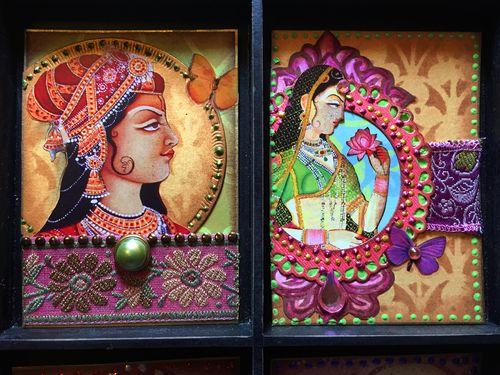 Indian Summer ATCs Cards 5-6 - Gwen Lafleur