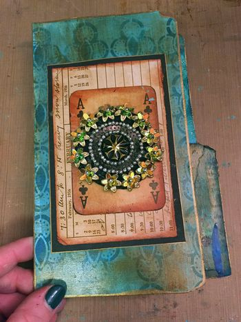 File Folder Mini Art Journal Finished Cover - Gwen Lafleur