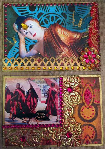 StencilGirl - Inchie Arts - ATCs 1 - Gwen Lafleur