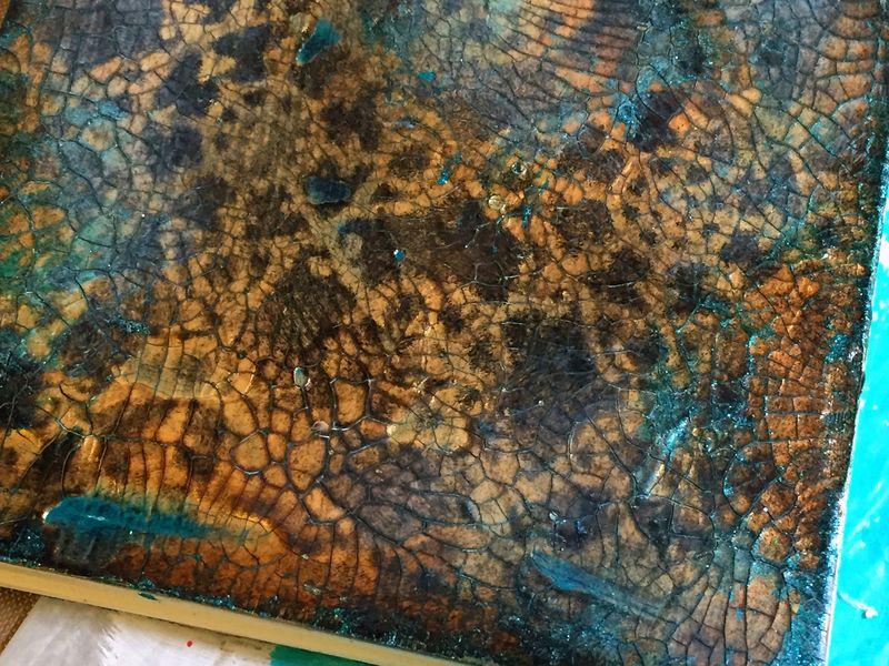 StencilGirl - Inchie Arts - Mini Art Journal 2 Cover Close-up - Gwen Lafleur