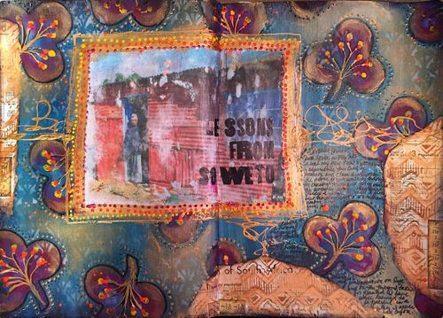Lessons from Soweto - Art Journal Page - Gwen Lafleur