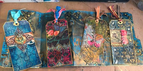 File Folder Art Journal Class Sample - Inside - Gwen Lafleur