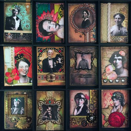 March2016 ATCs - Women Who Dared - Gwen Lafleur