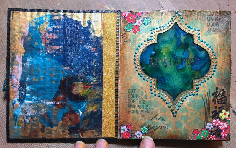 StencilGuts Handmade Art Journal - Page 1 - Gwen Lafleur