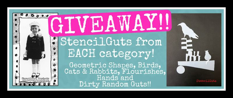 StencilGuts Blog Hop Giveaway image