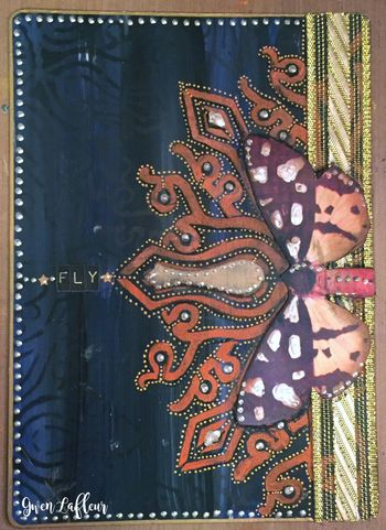 Art Journal Cards 4 with Stencils - Gwen Lafleur