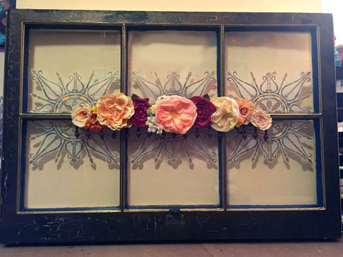 Upcycled Mixed Media Window - Final 2 - Gwen Lafleur