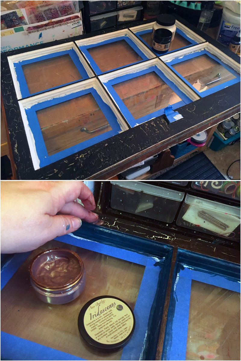 Upcycled Mixed Media Window - Steps 3-4 - Gwen Lafleur