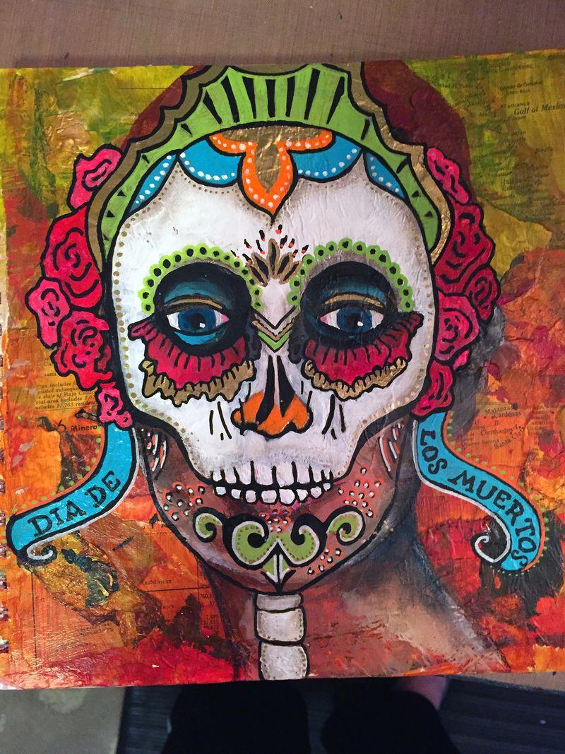 Mix and Match Faces - Art Journaling Page 1 - Gwen Lafleur