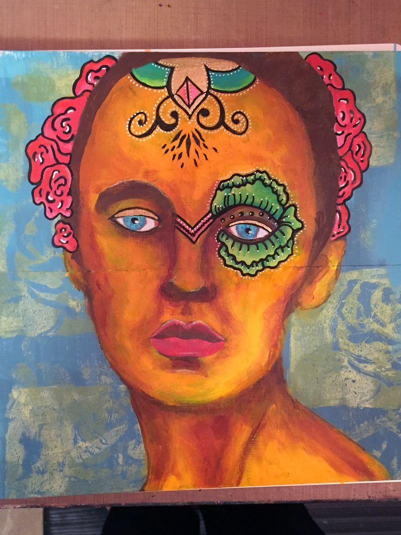 Mix and Match Faces - Art Journaling Page 2 - Gwen Lafleur
