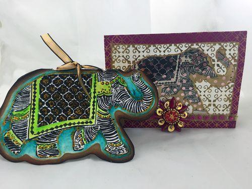 All Occasion Elephant Handmade Cards - Gwen Lafleur