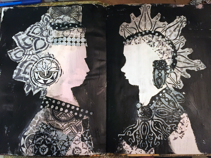 Alter Egos Art Journal Page - Step 4a - Gwen Lafleur