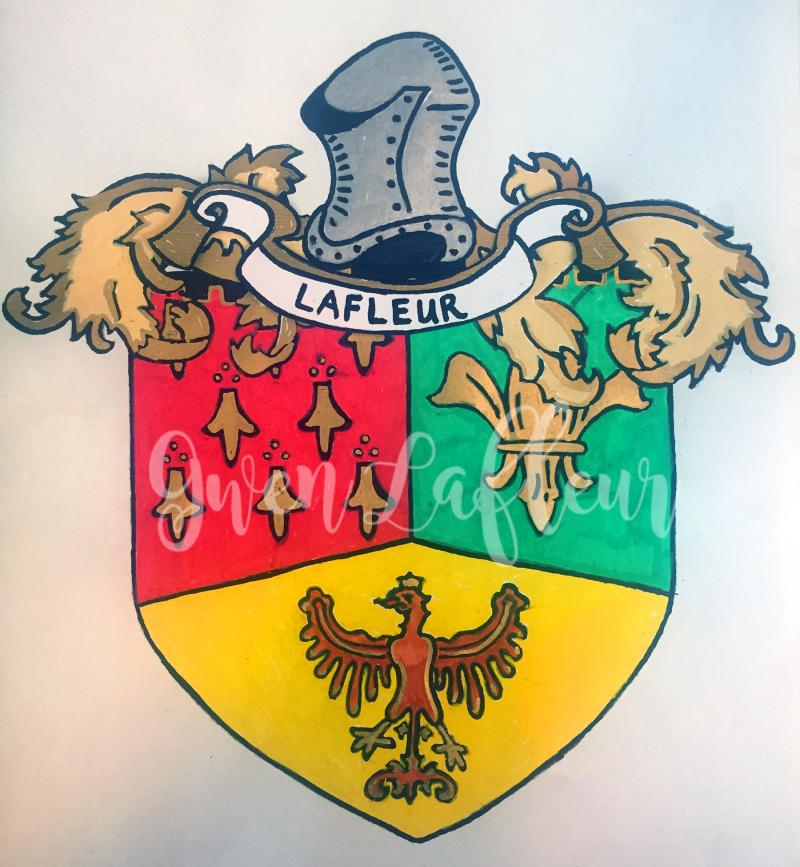 Family Crest with Heraldry Stencils - Gwen Lafleur - wm