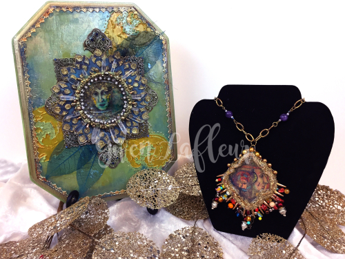Mixed Media Medallions 2 - PaperArtsy and StencilGirl - Gwen Lafleur