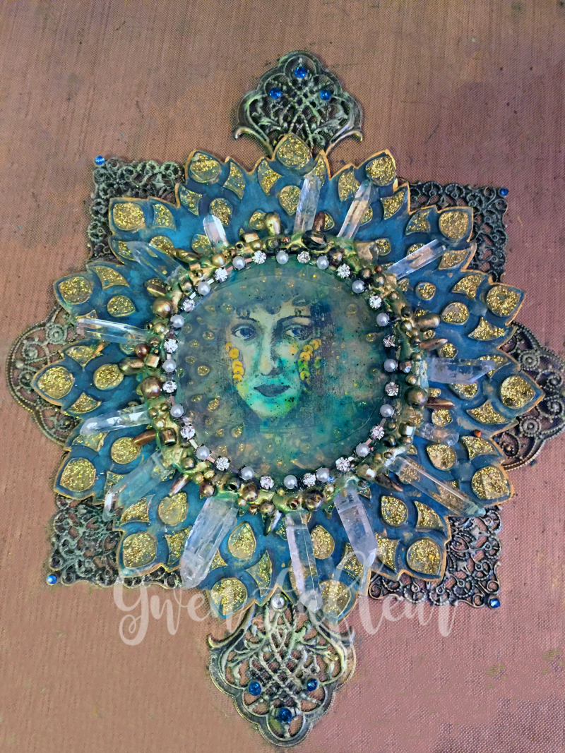 Mixed Media Medallion Unmounted - Gwen Lafleur