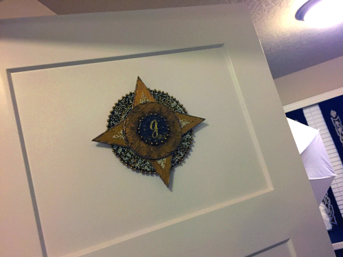 Stenciled Mixed Media Room Sign - Hanging on Door 2 - Gwen Lafleur