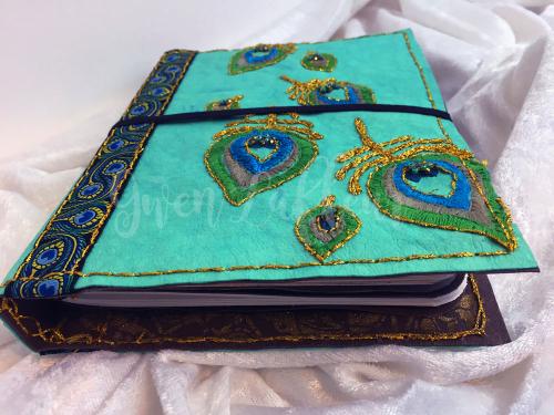 Stenciled-Kraft-Tex-Notebook-Cover---Front-Bottom-View---Gwen-Lafleur-sm