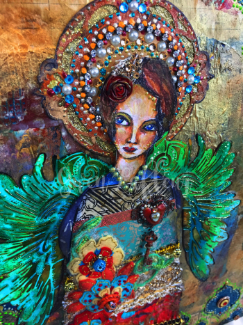 Mixed-Media-Angel-Close-up-1---Gwen-Lafleur