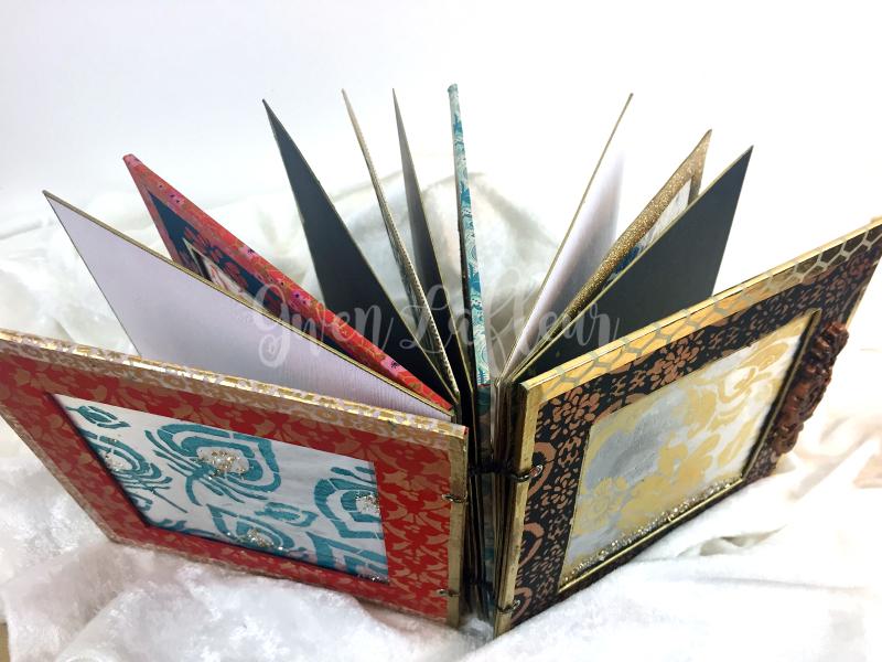 Stenciled ICE Resin Window Art Journal 3 - Gwen Lafleur