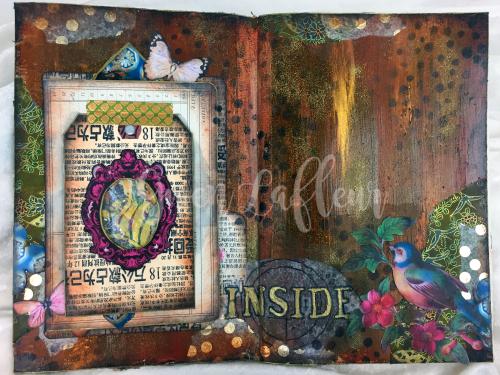Art Journal Design Class - Spread 3 - Gwen Lafleur
