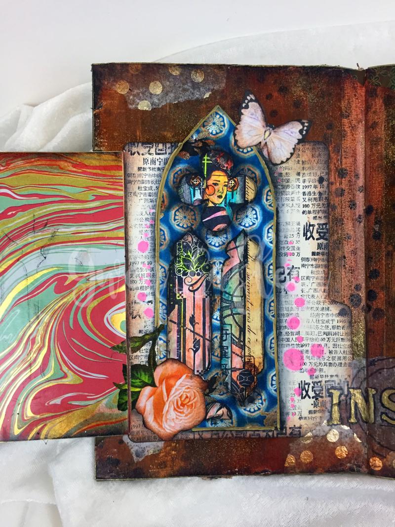 Art Journal Design Class - Spread 3d - Gwen Lafleur