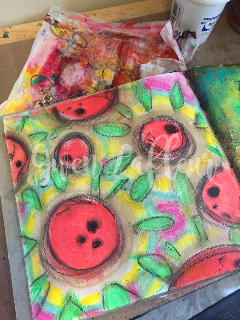 Wanderlust Week 5 - Art Journal Background - Gwen Lafleur