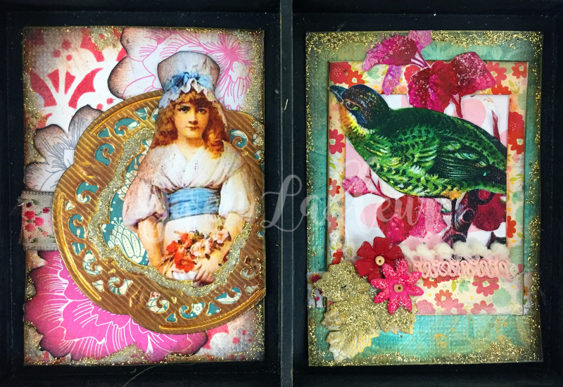 March 2017 ATCs - In the Garden Cards 3-4 - Gwen Lafleur