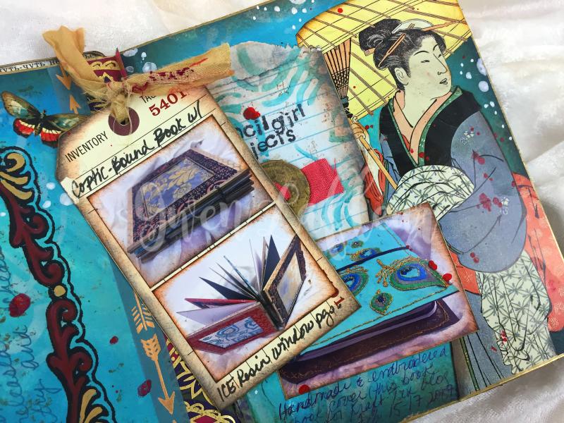 ARTifacts Art Journal - February Spread 1a - Gwen Lafleur