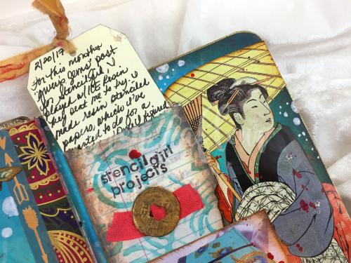 ARTifacts Art Journal - February Spread 1 - Gwen Lafleur