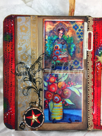 ARTifacts Art Journal - February Spread 2a - Gwen Lafleur