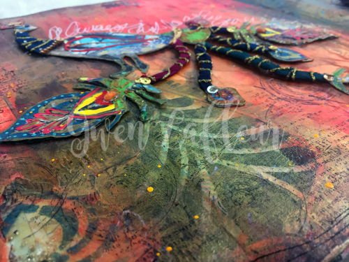 Boho Art Journaling - Peacock Close-up 4 - Gwen Lafleur