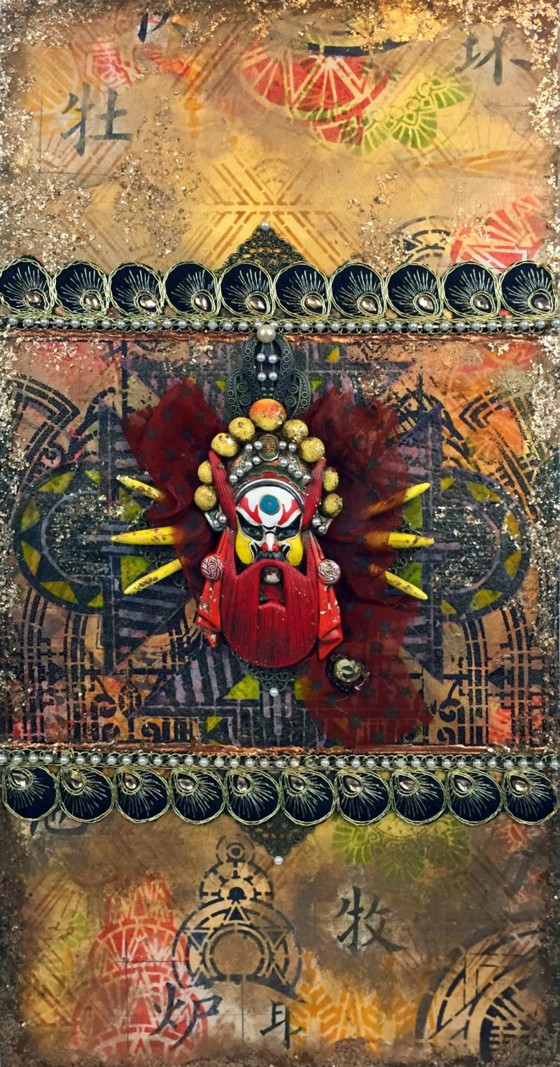 Art Deco Stencils - Art Deco Asian Fusion Panel - Gwen Lafleur