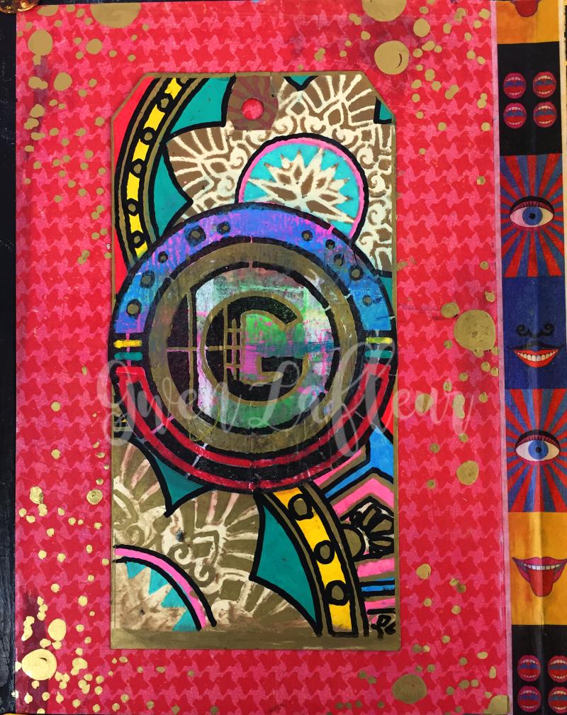 Art Deco Stencils - Monogram Tag - Gwen Lafleur