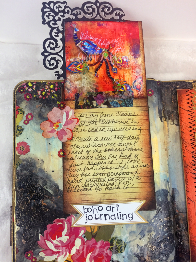 March ARTifacts Art Journal - Page 2a - Gwen Lafleur