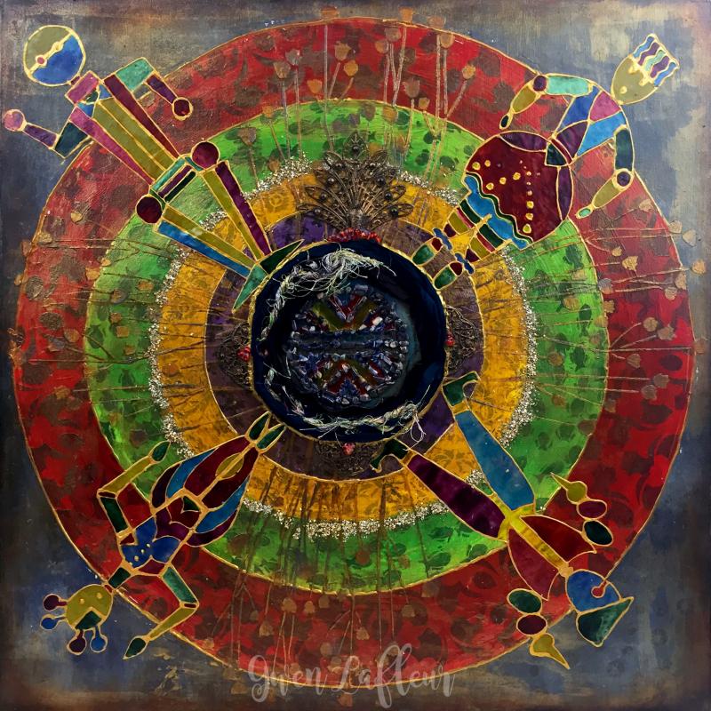 Boho Stenciled Mandala - Gwen Lafleur