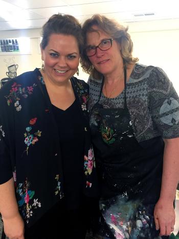 Mixed Media Shadow Boxes Class - Me and Jill - Gwen Lafleur