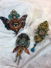 Mini Mixed Media Medallions - Gwen Lafleur