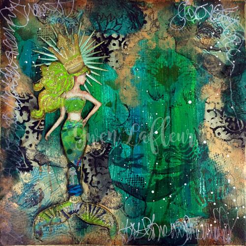 Mermaid-Art-Journal-Spread-with-Stencils---Gwen-Lafleur