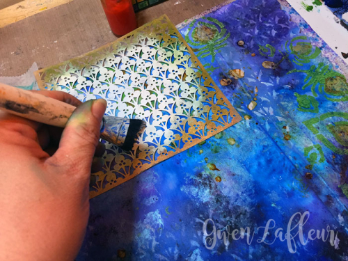 StencilGirl-Brusho-Art-Journal-Page-Step-5---Gwen-Lafleur