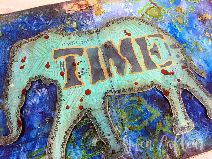 StencilGirl-Brusho-Art-Journal-Page-Closeup---Gwen-Lafleur