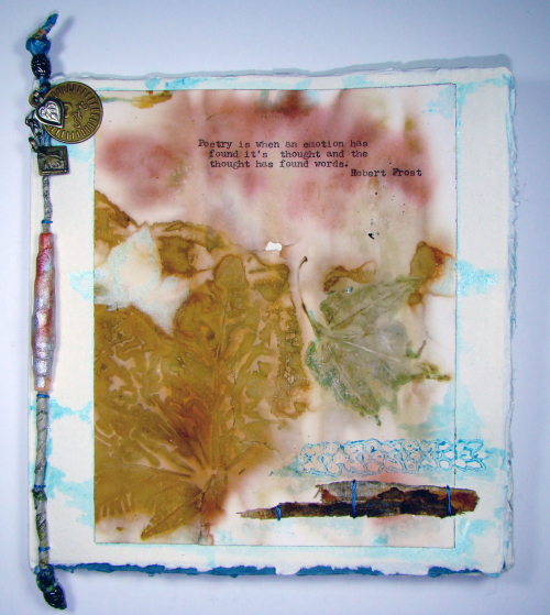 Khadi journal by Sandee Setliff for Gwen Lafleur